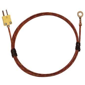 Digi-Sense Type K Economic Bolt On Thermocouple Probe #8 Screw with Mini-Connector, 36