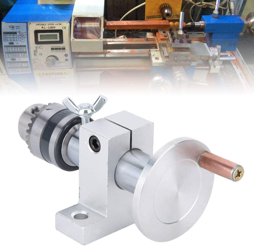 Mini Lathe Machine Parts,DIY Woodworking Precise Live Revolving Center with Wrench Double Bearing Live Center Revolving Centre DIY Parts Accessories