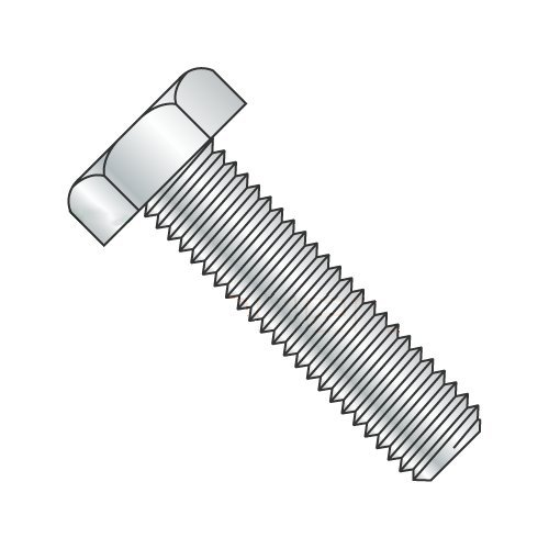 3/8 x 3-1/2 Fully Threaded Hex Tap Bolt A307 Grade A, Plain Steel (Quantity: 400) Coarse Thread, 3/8-16 x 3-1/2