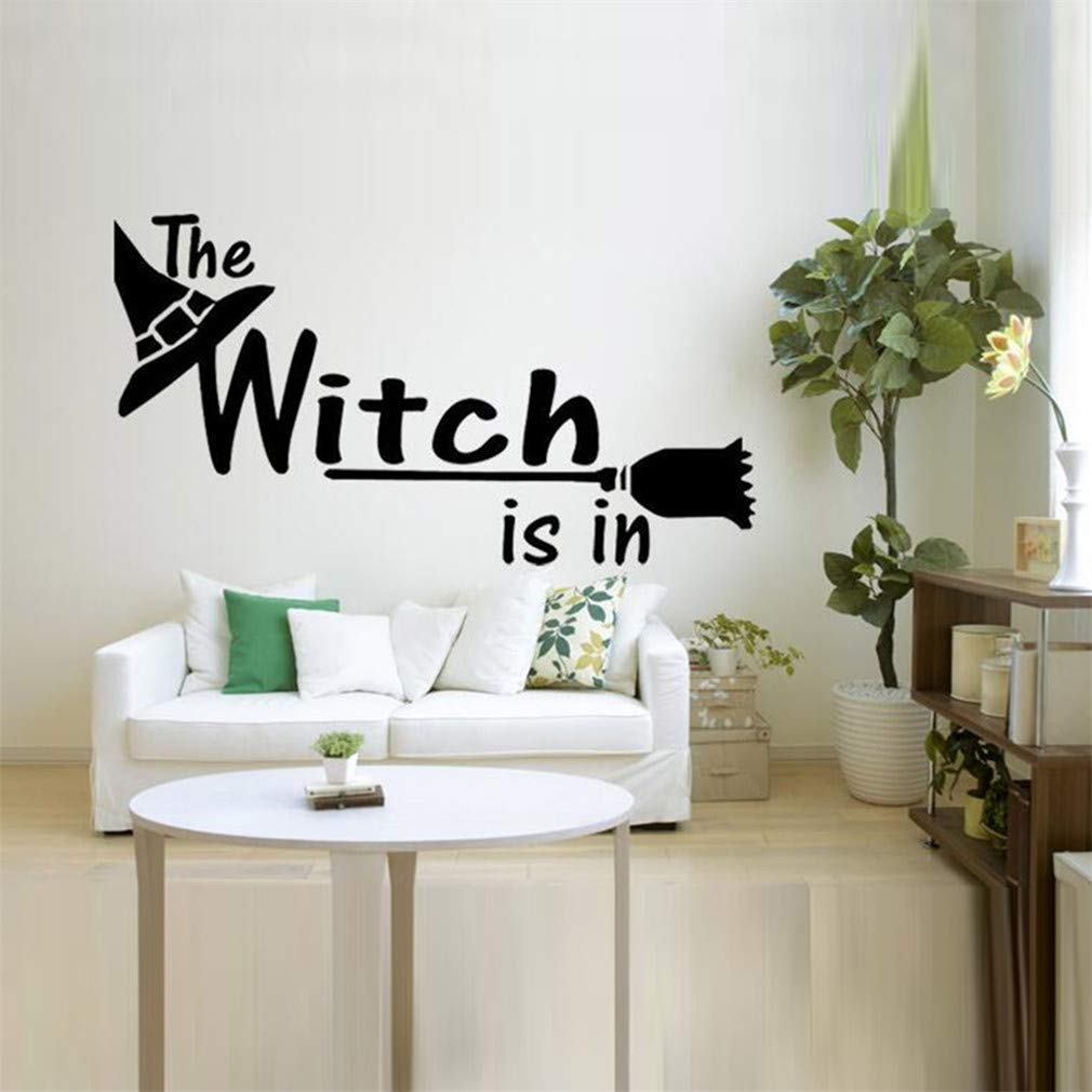 The Witch is Wall Decals,Vinyl Removable PVC Stickers Decor for Home Bedroom Living Room Decoration 21.7×11.8 in