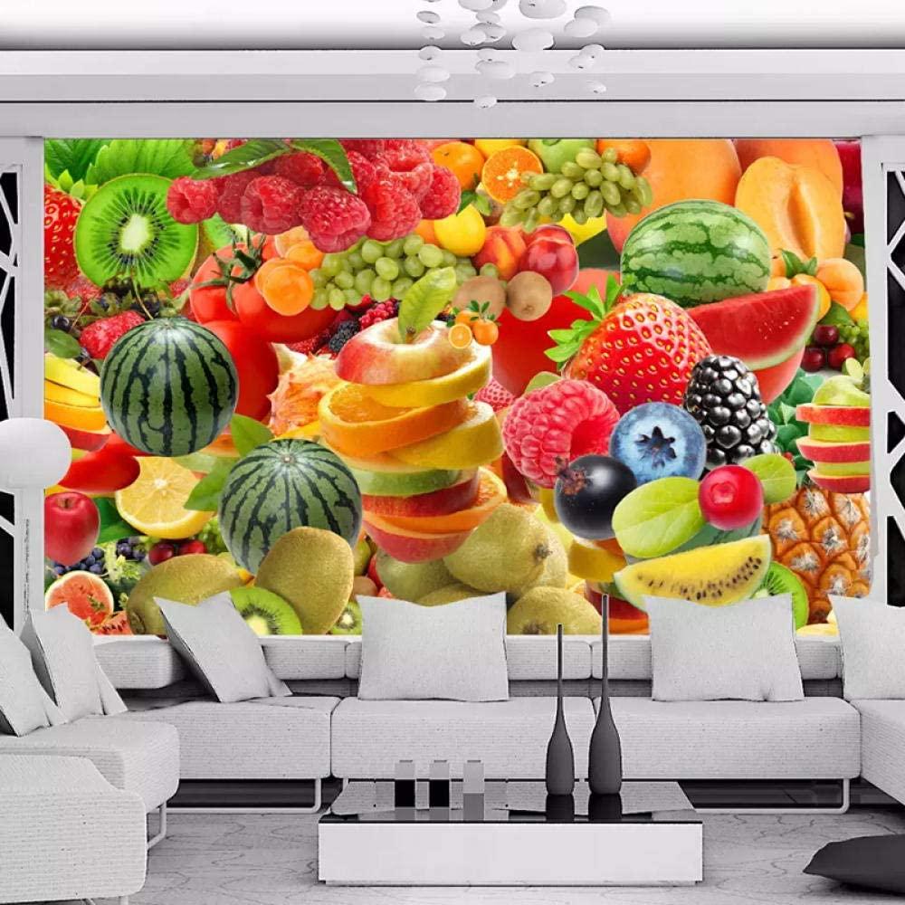 Custom 3D Wall Mural Wallpaper for Walls 3D Kitchen Restaurant Fruit Shop Background Decor Photo Wall Paper-350X250Cm