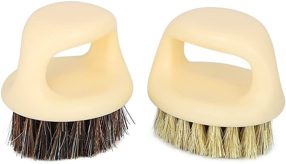 ORYOUGO 2 Pack Car Bristle Brush Cleaning Tools for Interior/Leather Seat/Roof/Panel