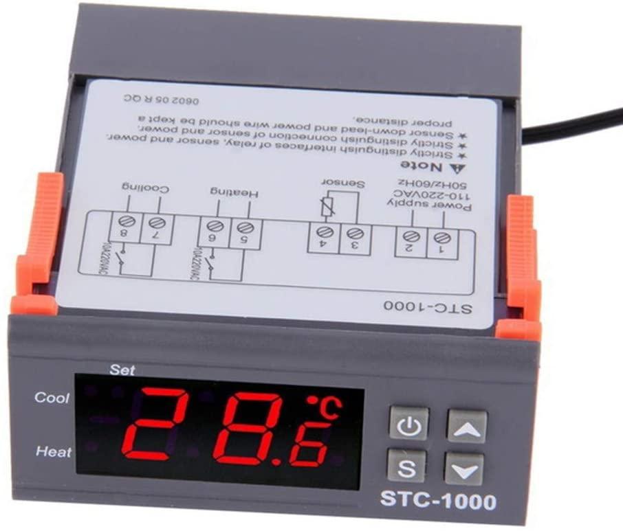 Temperature Controller Thermostat, Centigrade Thermostat Sensor Digital Temperature Controller Thermocouple Control Temp