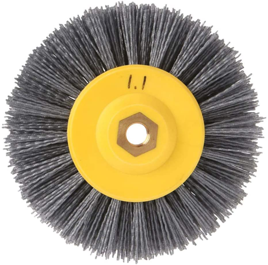Baluue Nylon Filament Abrasive Wire Brush Wheel Cup Brush Set Nylon Drill Brush Set for Removal of Rust Corrosion Paint Reduced Wire Breakage 240