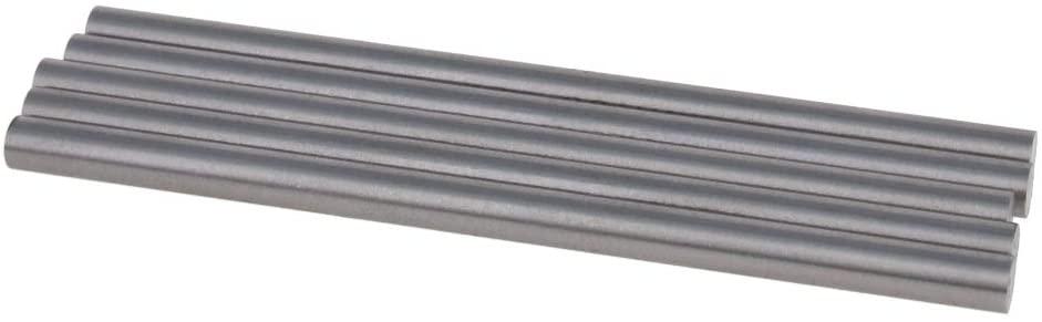 Utoolmart Round Steel Rod, 5.5mm HSS Lathe Bar Stock Tool 100mm Long, for Shaft Gear Drill Lathes Boring Machine Turning Miniature Axle, Cylindrical Pin DIY Craft Tool, 5pcs