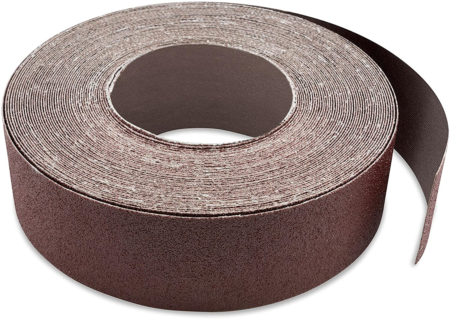 Red Label Abrasives 3 1/8 Inch X 70 FT 80 Grit Woodworking Drum Sander Strip Roll, Cut to Length