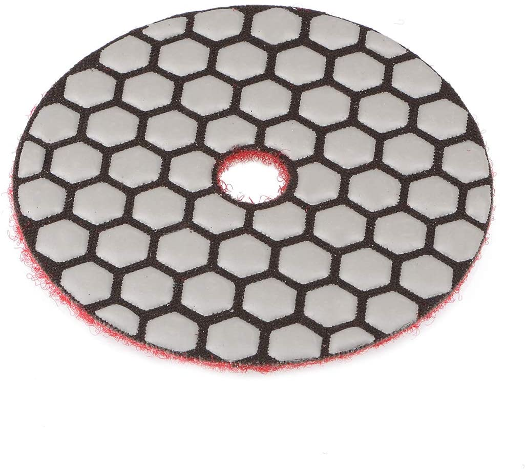 uxcell 3-Inch Diamond Dry Polishing Pad Hook and Loop Flocking Back for Concrete Granite Marble 500 Grit