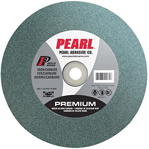 Pearl Abrasive BG122060 Green Silicon Carbide Bench Grinding Wheel with C60 Grit