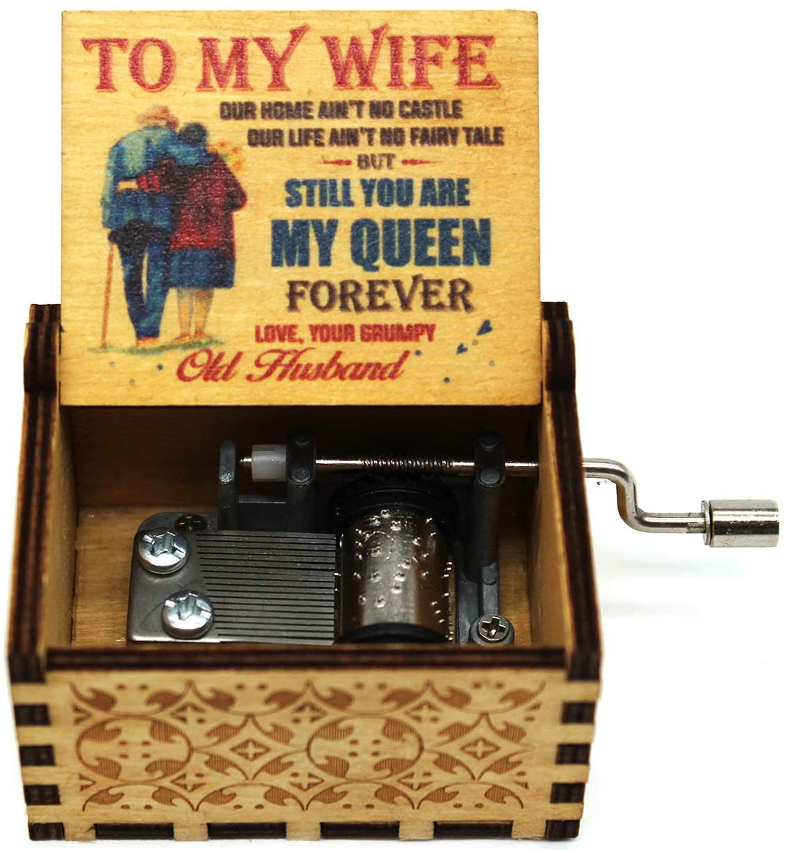 Buildinest You are My Sunshine Music Box - Laser Engraved Music Box - Gifts from Husband to Wife (OLDW)