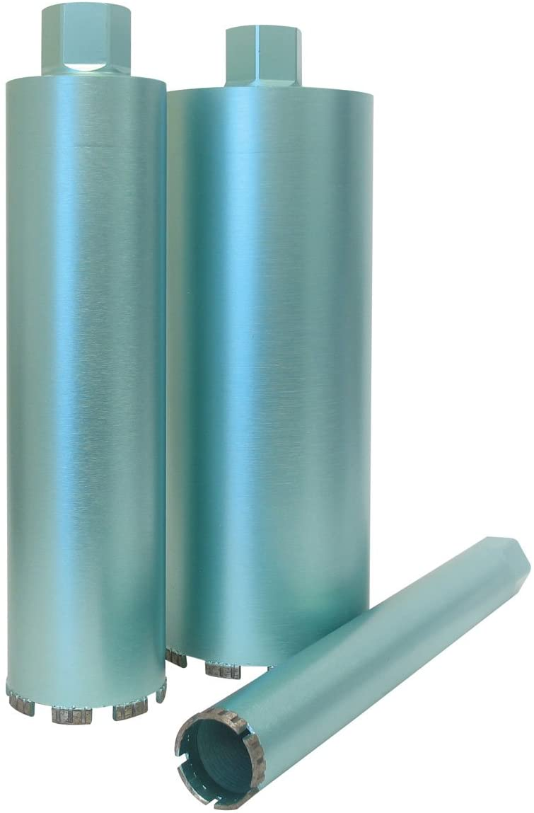 Pearl Abrasive HB0500PT P4 Turbo Segmented Wet Core Bit for Concrete, Green, 5-Inch
