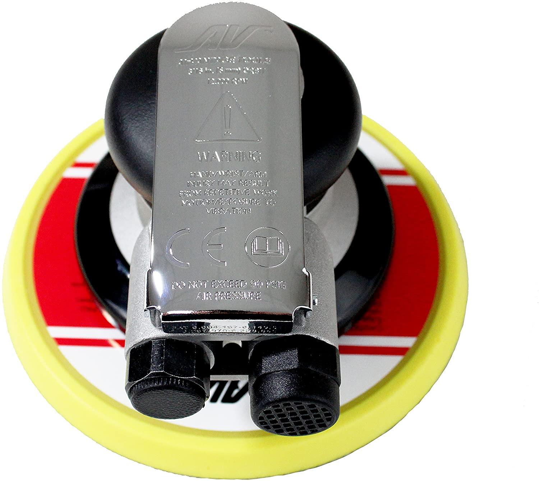 AirVANTAGE Industrial Grade Random Orbital Air Sander Non-Vacuum With Low-Profile Pad, 1/4 in. NPT Air Inlet (6