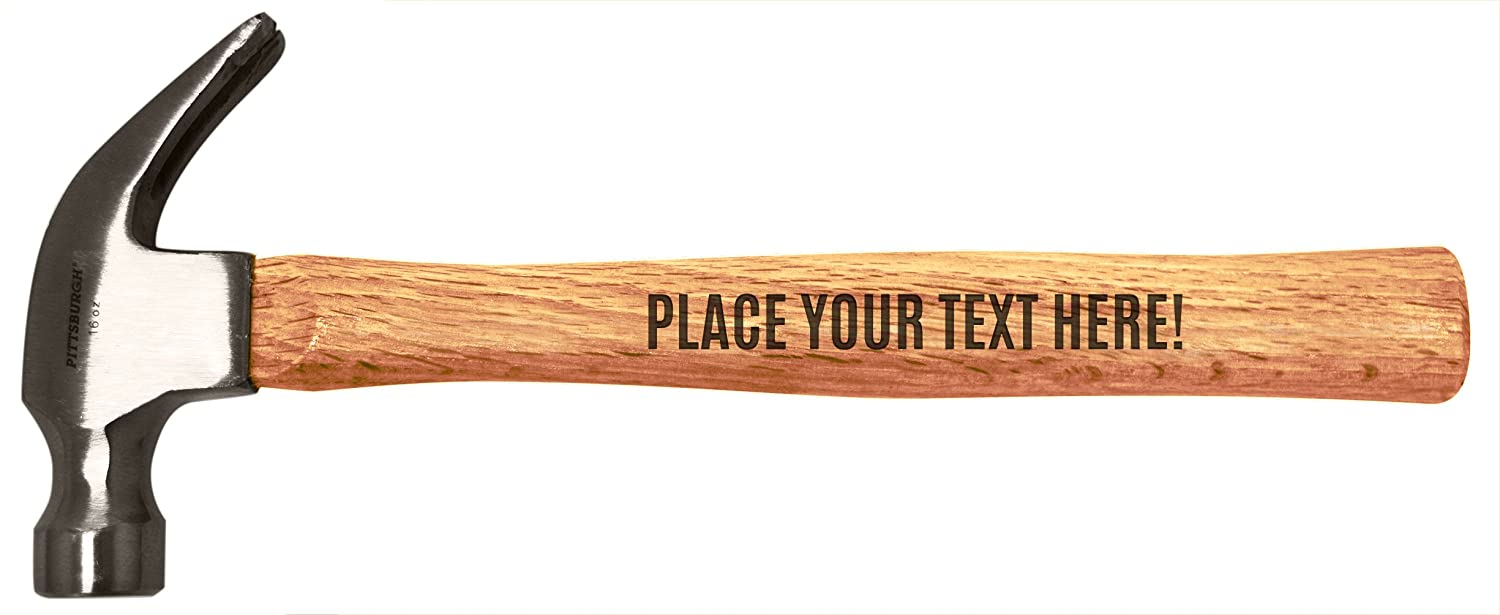 Customized Gift Any Text Custom Words Personalized Message Engraved Wood Handle Steel Hammer
