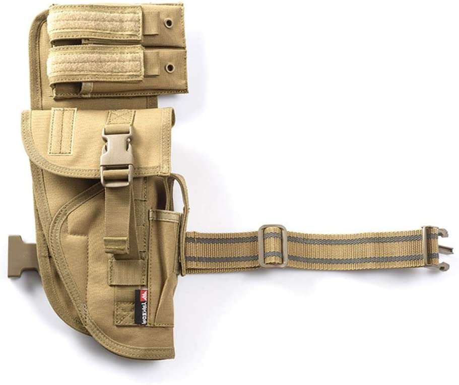 EFGIU Molle Tactical Pistol Thigh Gun Holster, Drop Leg Holster, Right Hand Adjustable