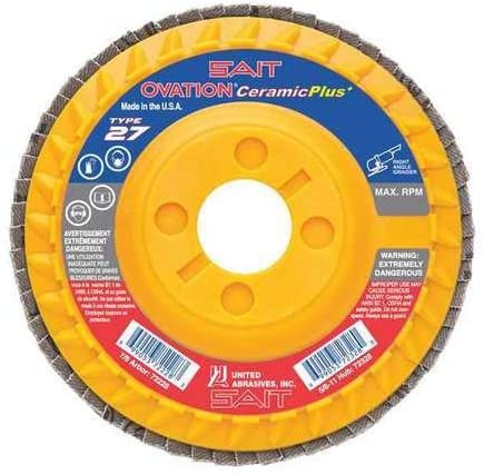 Ceramic Flap Disc, 5x7/8 36x, PK10