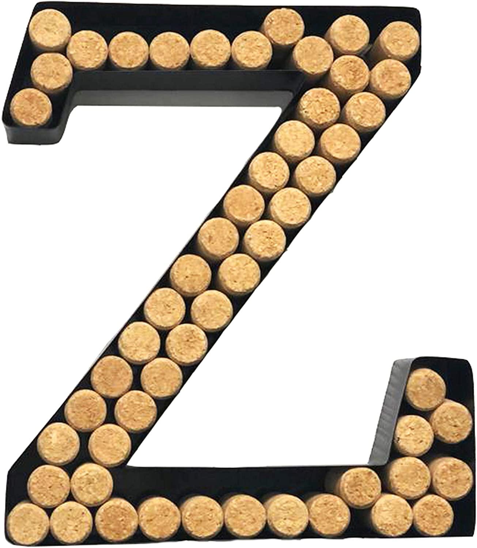 Decomil Wine Cork Holder (A-Z) (Letter Z) | Decorative Wine Letters Cork Holder (Z) | Wall Art Cork Holder Decor (Z)