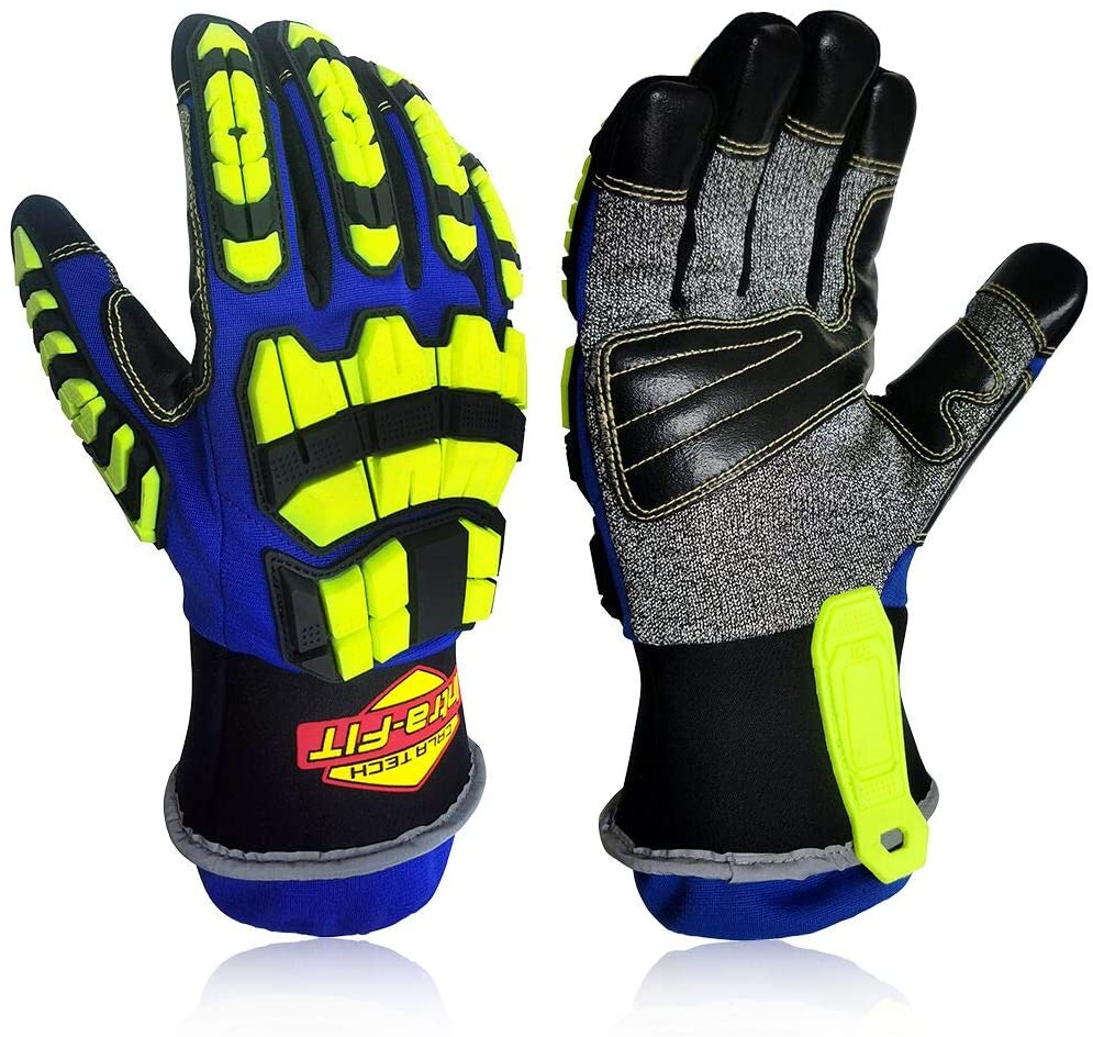 Intra-Fit Heavy-duty Rescue Extrication Glove Impact, Protection, Super Dexterity 5, EN388:2016 4544FP; ANSI CUT LEVEL A8