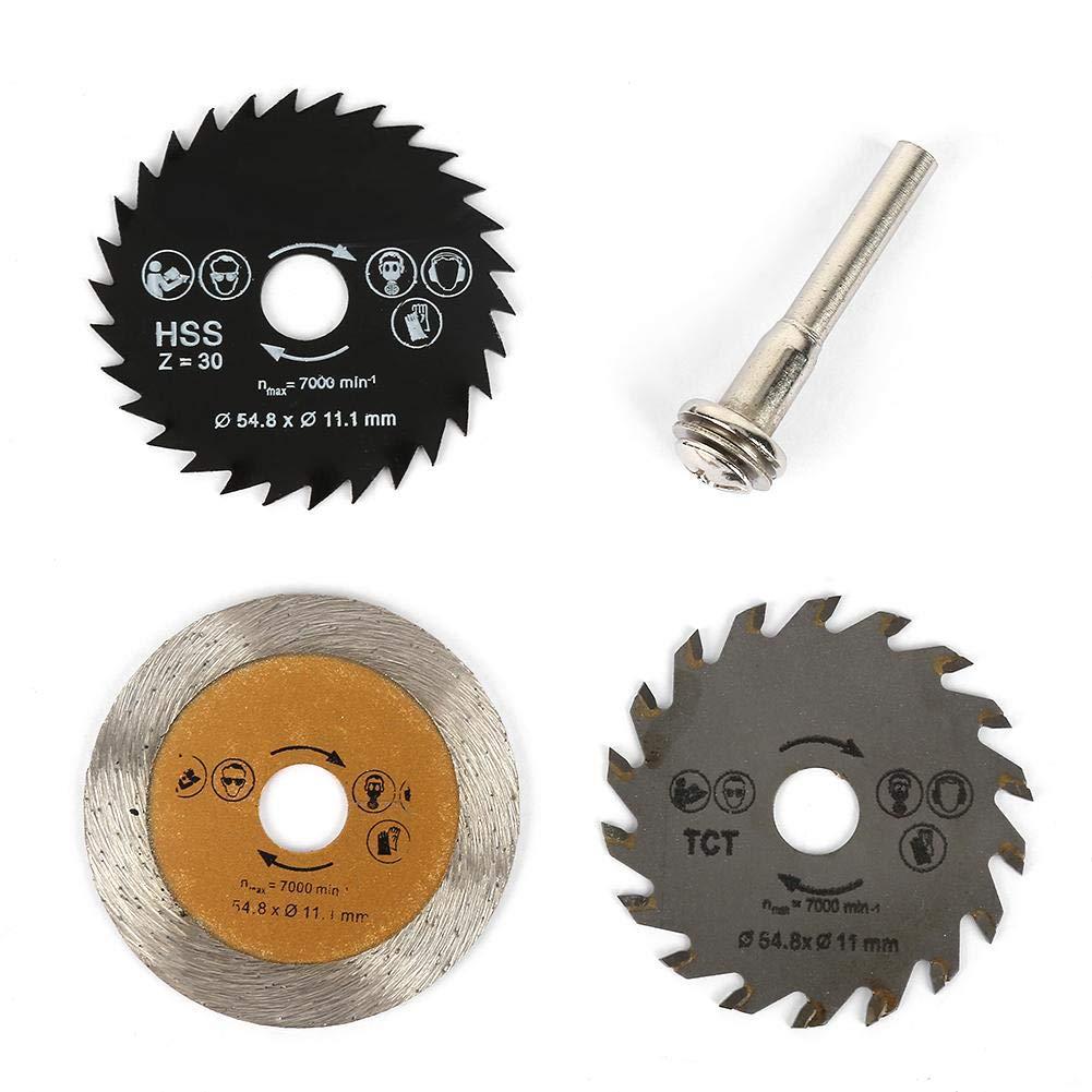 3pcs Mini Diamond Saw Blade Disc Cutting Wheel Rim Diamond Cutting Disc Saw Blade Wheel Rotary Tool Accessories for Ceramic Microlite Stone Processing