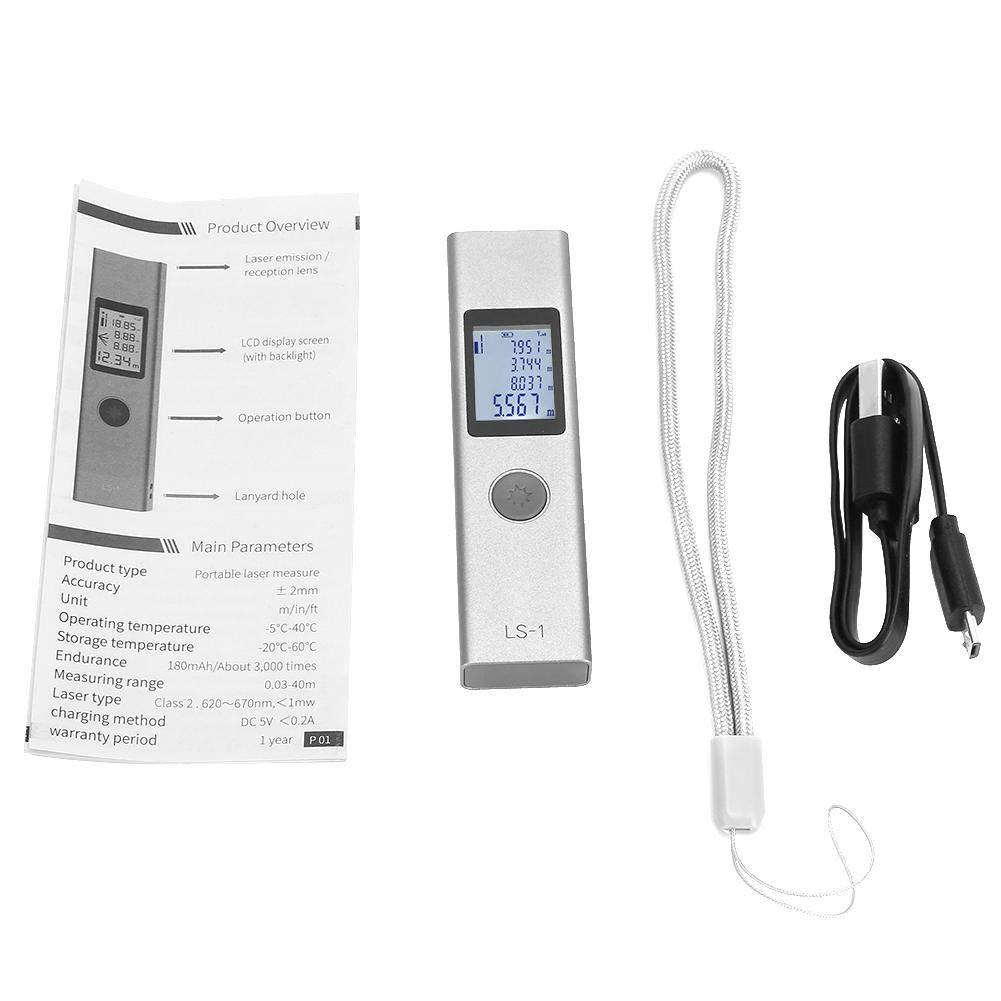 Distance Measure Rangefinder,LS-1 Rangefinder Distance Meter High-Precision Measurement Mini Portable Handheld Range Finder