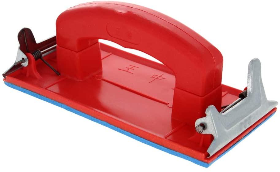 Utoolmart Hand Sander with Handle, Hand Sanding Block Sandpaper Holder for Wood, Drywall, Metal Polishing 1 Pcs