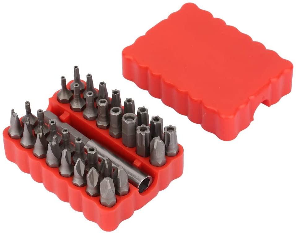 Hollow Screwdriver Bit, 33 in 1 Hollow Screwdriver Bit Kit Hex Cross Star Screw Bits Extension Rod
