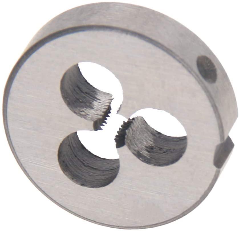 Utoolmart M2.5 X 0.45 Metric Round Die Machine Thread Die, 12mm OD Round Threading Die Alloy Steel 1Pcs