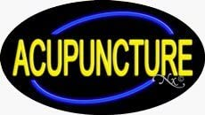 Acupuncture Flashing Neon Sign - 17 x 30 x 2 inches - Made in USA