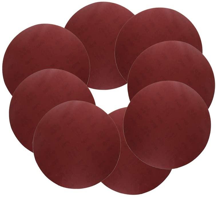 Utoolmart 12-inch PSA Sanding Discs,180Grits Self Stick Adhesive Back Aluminum Oxide Sandpaper 8pcs