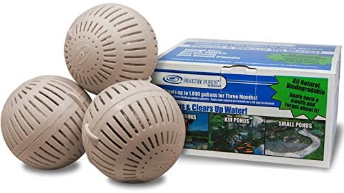Healthy Ponds 51117 Aquasphere Pro Biodegradable Pond Treatment 3-Pack, Each Sphere Treats up to 1,000 Gallons