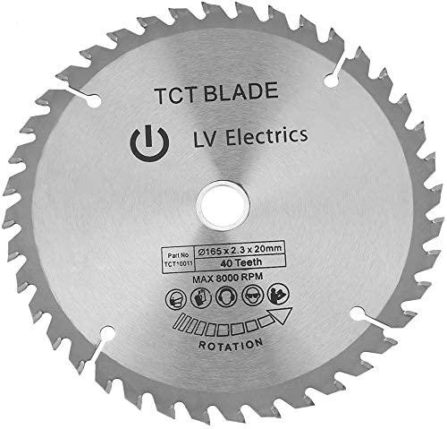Circular Saw Blade,6.5-0.79 Inch 40 Teeth Diamond Rotary Wood Cutting Blade Disc