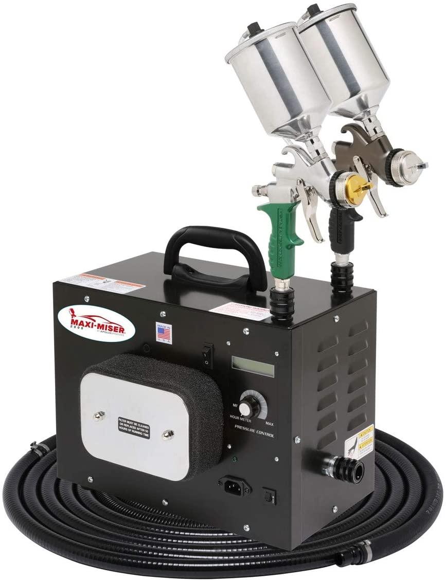 Eastwood Maxi-Miser M2000 Hvlp Paint Spray System Portable Turbine Spray Unit with Spray Gun & 5 Mm Nozzle Aluminum 600 Cc Cup