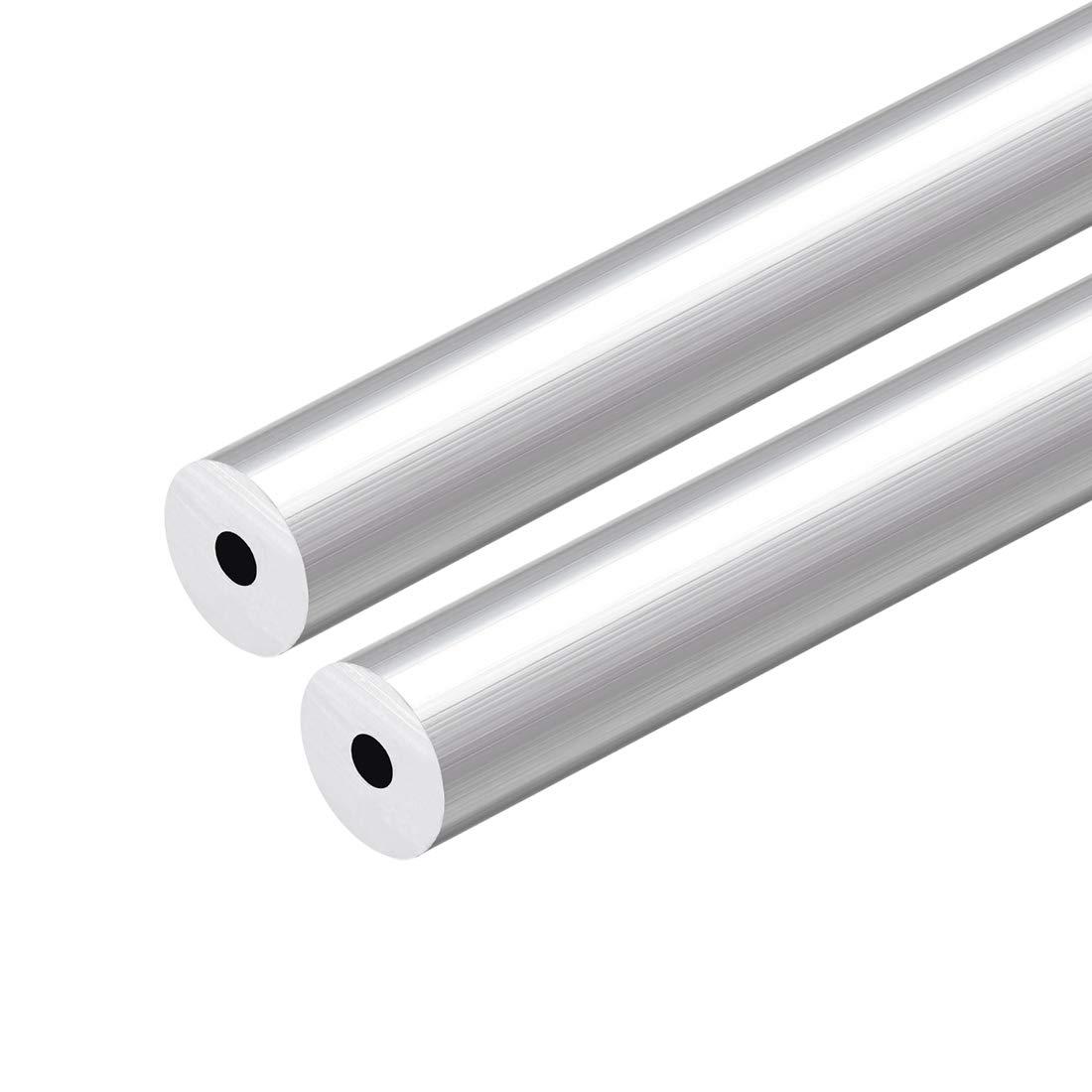 uxcell 6063 Aluminum Round Tube, 300mm Length 19mm OD 5.2mm Inner Dia Seamless Aluminum Straight Tubing 2 Pcs