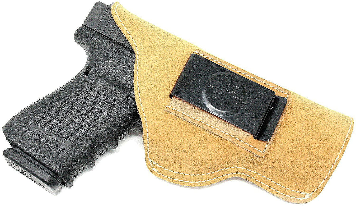Black Scorpion BSO03LTA Suede Leather IWB Holster-Made USA-Inside Waistband- Fits Glock 42,43/Ruger LC9S/Karl CM9,CW9,PM9,CW380/Diamondback Firearms DB9 /Taurus G2 Millennium-Most .380 Autos