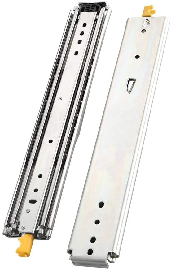 AOLISHENG Heavy Duty Drawer Slides 12 Inch with Lock, Full Extension Ball Bearing, 500 lb Load Capacity, 1 Pair