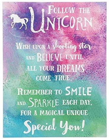 Ganz Follow The Unicorn Plaque