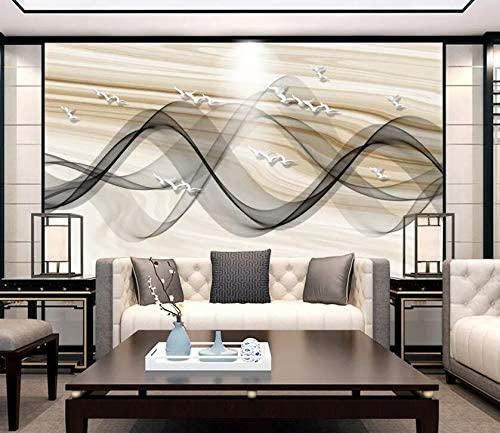 "AJ WALLPAPER 3D Black Wave WC028 Wall Paper Print Decal Deco Wall Mural Self-Adhesive Wallpaper US Dai (Woven Paper (Need Glue), 【 82""x58""】 208x146cm(WxH))"