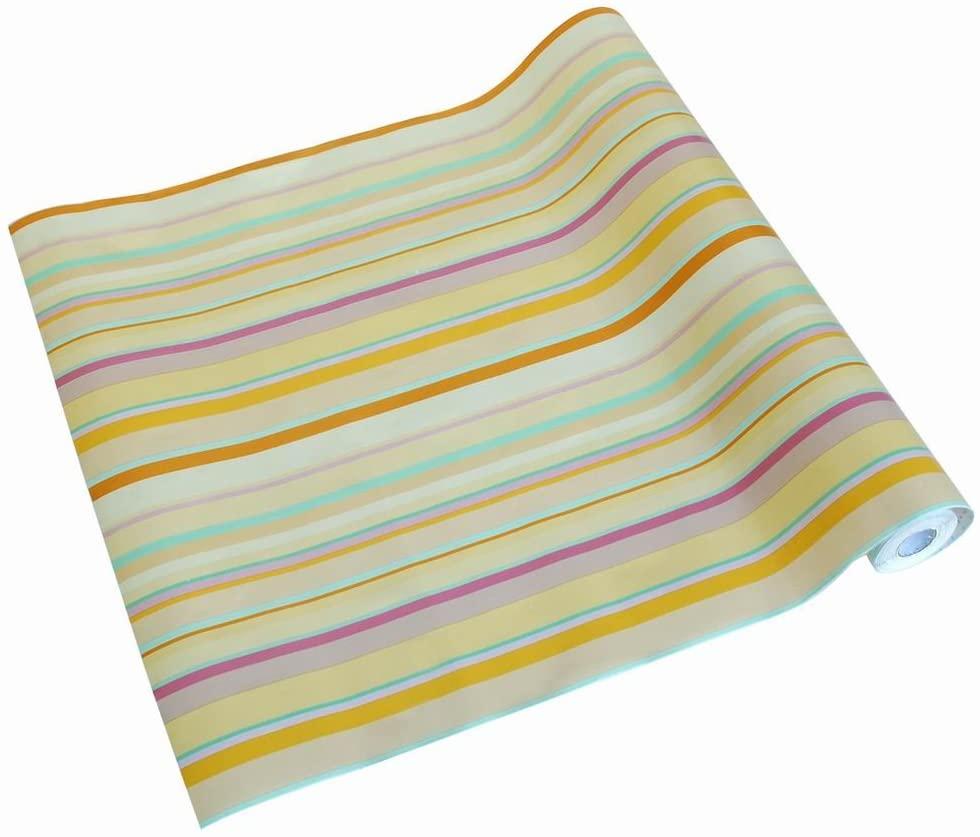 Colorful stripe -3- Self-Adhesive Wallpaper Home Decor(Roll)