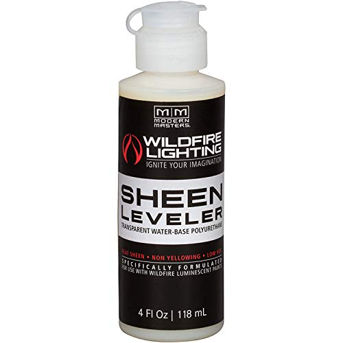 Wildfire Clear Color Sheen Leveler Black Light Paint, 4 Ounce Bottle