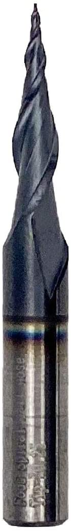 "Foos - Tapered Angle Ball Tip - 1/4 Shank -Solid Carbide - TiAIN Coated Router Bits (R=0.25x1/4"" Shank)"