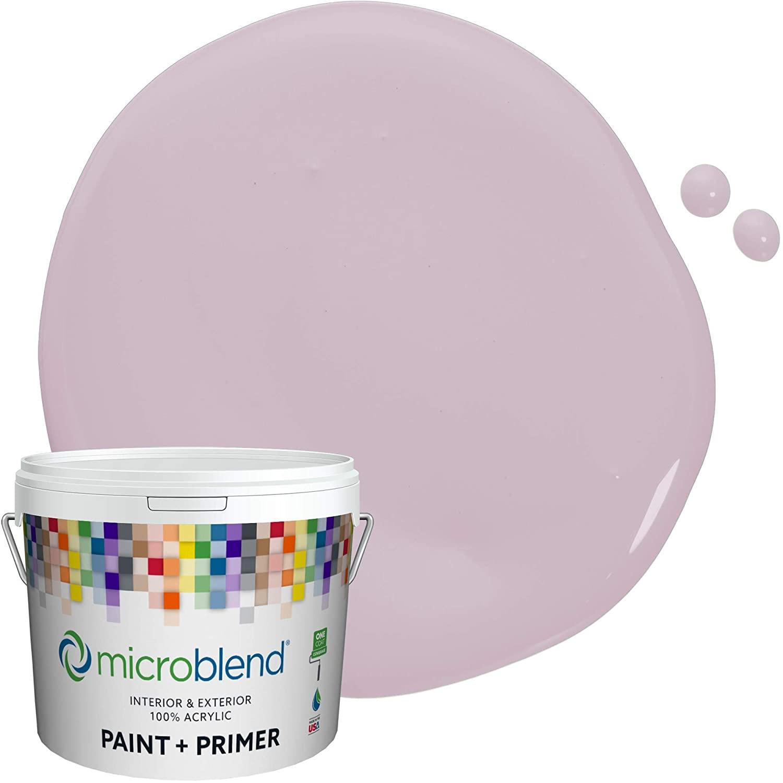 Microblend Interior Paint and Primer - Mauve/Petite Purple, Semi-Gloss Sheen, 1-Gallon, Premium Quality, One Coat Hide, Low VOC, Washable, Microblend Violets Family