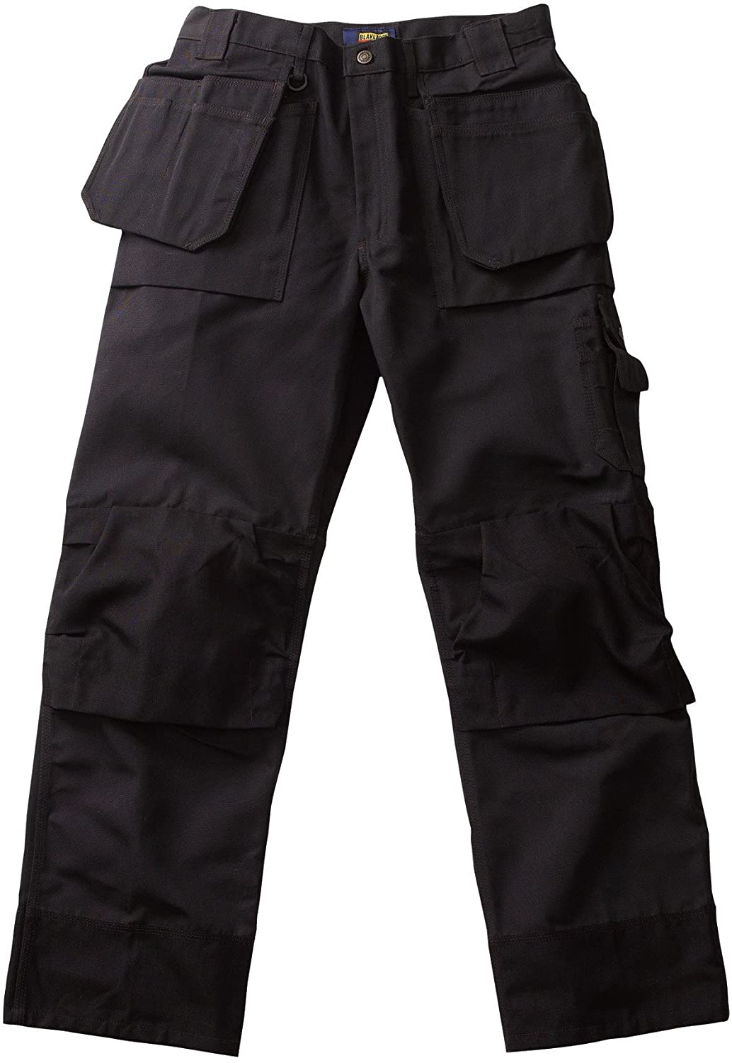 Blaklader Workwear Heavy Worker Pant with Utility Pockets, 40-Inch Waist, 30-Inch Length, 13-Ounce Cotton Twill Black/Black