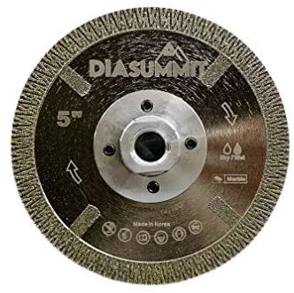 Diamond Blade Electroplated Full Face, superior for dry/wet cutting Marble - top quality diamond saw made by DIASUMMIT - Electroplated Silent Turbo Blade Full Face Diamond Blade