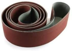 Red Label Abrasives 4 X 132 Inch 400 Grit Flexible Aluminum Oxide Multipurpose Sanding Belts, 3 Pack