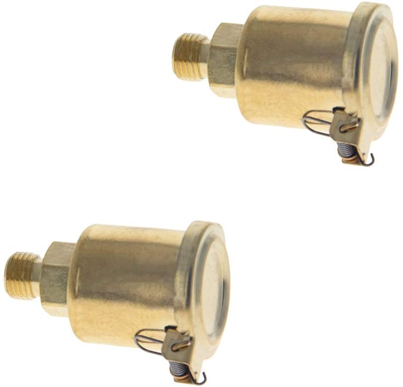 Othmro Machine Part Male Thread Spring Cap Grease Copper plating on iron Oil Cup 2pcs