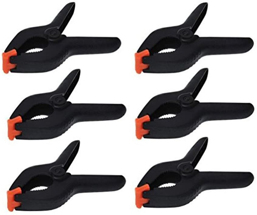 OUNONA 6 pieces clamp clamps Leim clamps 2.62Inch glue clamp spring clamp