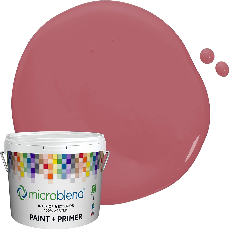 Microblend Interior Paint and Primer - Mauve/Royal Raquel, Eggshell Sheen, 1-Gallon, Premium Quality, One Coat Hide, Low VOC, Washable, Microblend Reds Family