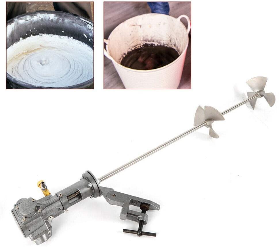 CNCEST Electric Handheld Paint Cement Mortar Mixer Machine Pneumatic Bracket Mixer Paint Mixing Tool Power Concrete Plaster Paddle Stirring
