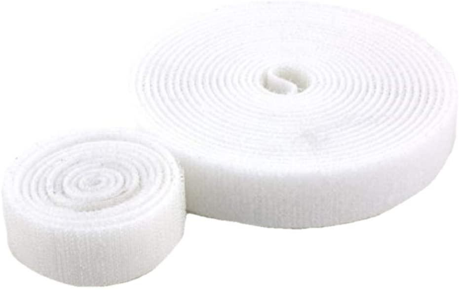 Beyond Trim Hook Fastener Tape – Self Adhesive Strips Interlocking Roll Fastening Nylon Fabric Mounting for Sewing Crafts DIY 1 Inch 27 Yards White