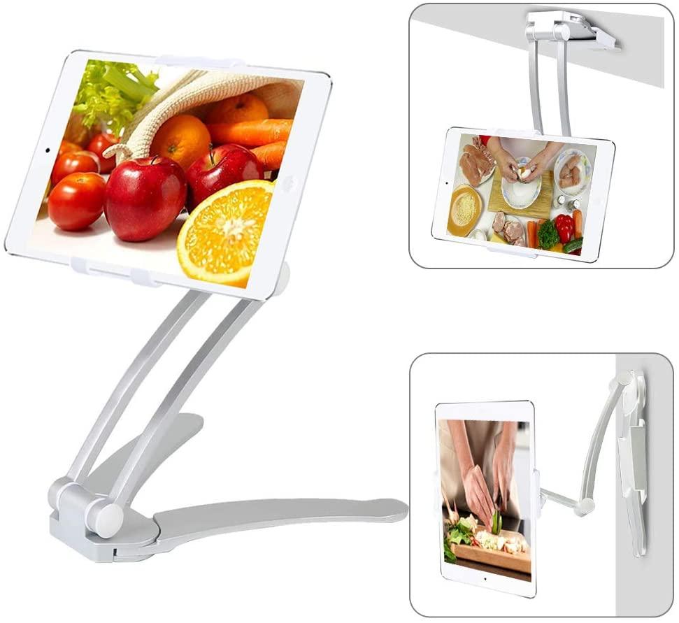 Moutik Kitchen Tablet Holder Bracket Adjustable arm Cell Phone fits 4 to 10.5