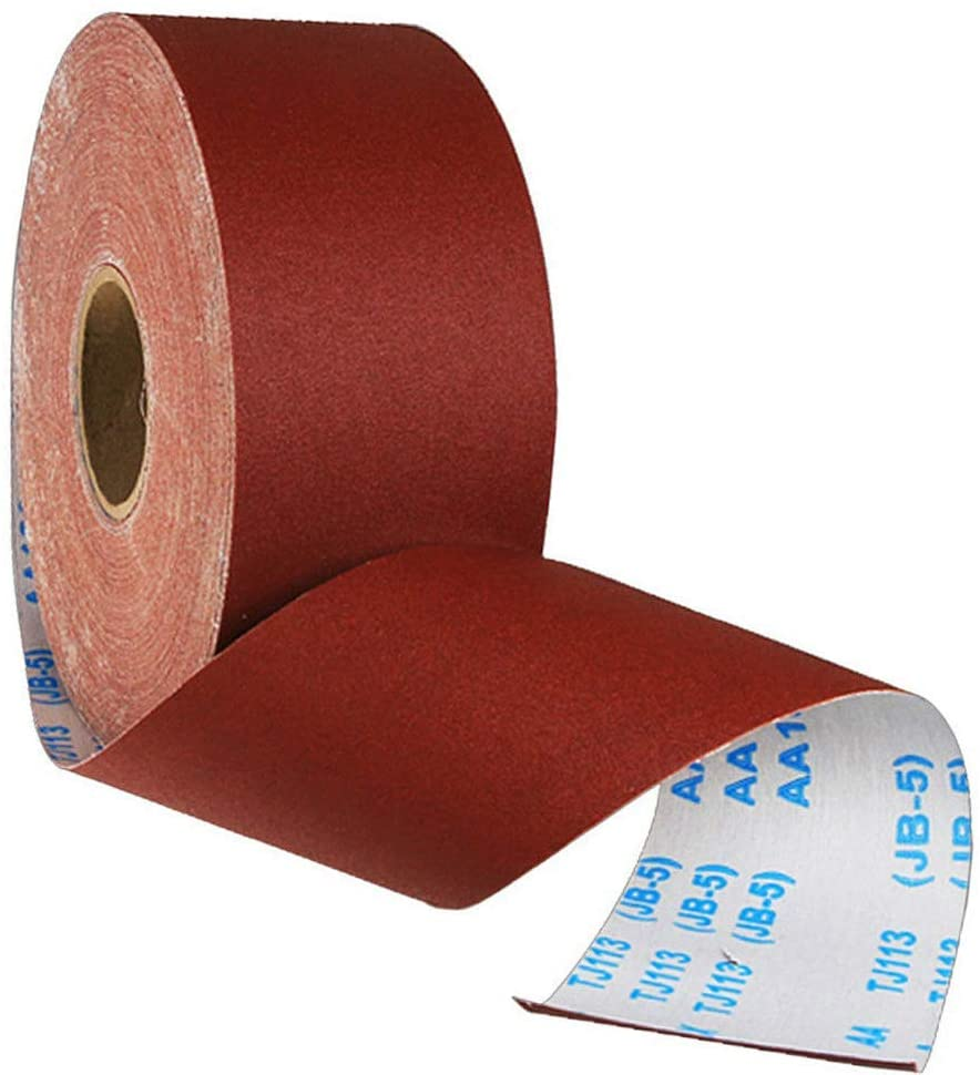 240 Grit Sanding Paper roll Abrasive Sanding Roll Polishing Tools for Metal and Wood, 10m x 100mm