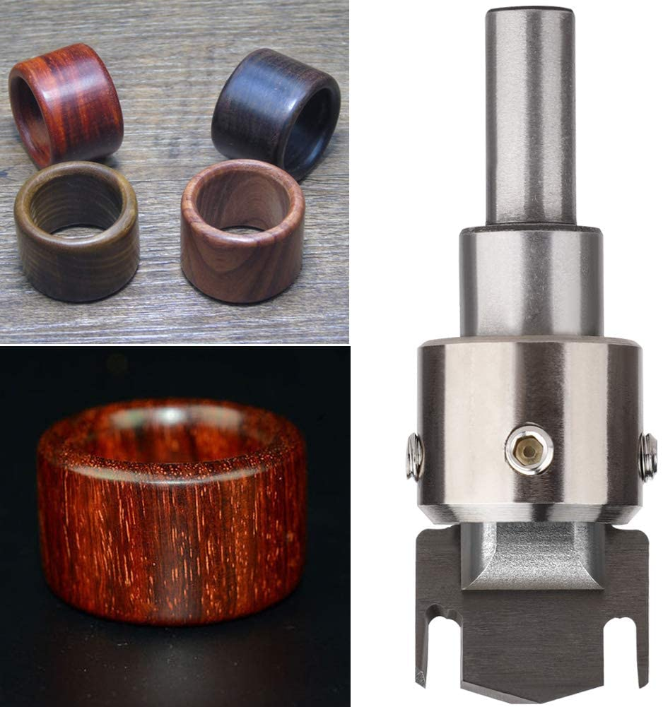 Taghua Wooden Thick Ring Maker, Wooden Bead Maker Milling Cutter Router Bit, High Speed Steel Drill Wood Tools for Making Necklace, Beads Pendants, Bracelets
